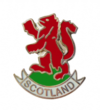 Scotland Red Lion Rampant Cut-Out Pin Badge - T253